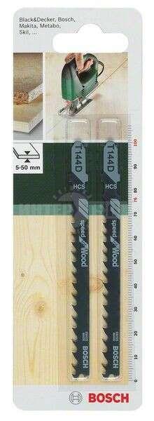 2 Лобзиковые пилки Bosch T144 D, HCS