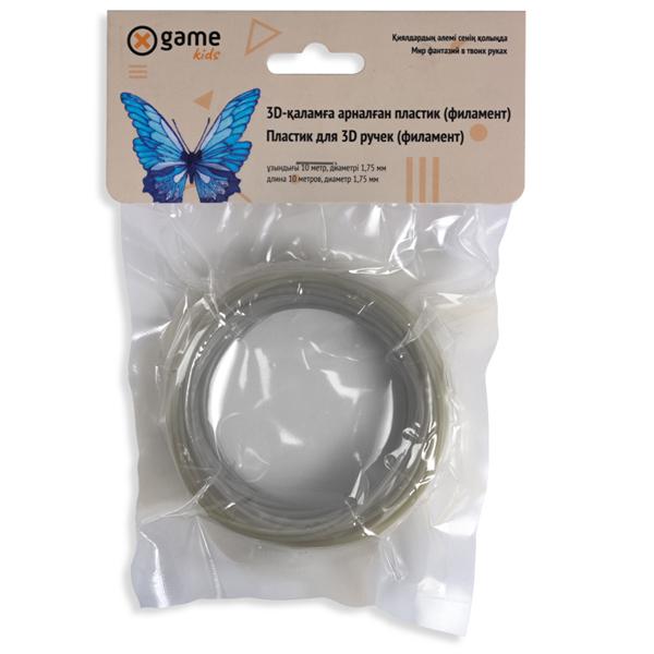 Пластик для 3D ручки (филамент-нить) X Game PLA-Silver-10