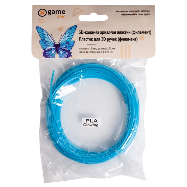 Пластик для 3D ручки (филамент-нить) X Game PLA-Light Blue-10