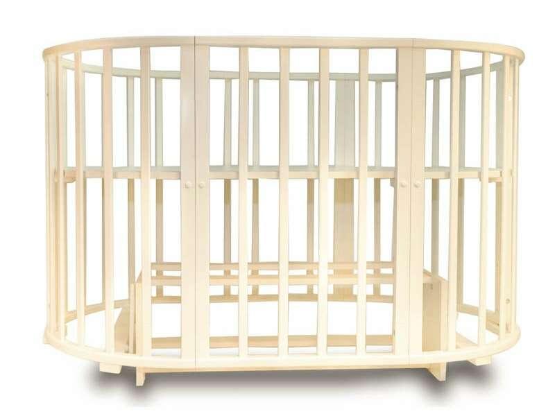 Кровать-трансформер Incanto  Gio Deluxe 8 в 1 с маятником, слоновая кость