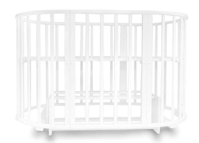 Кровать-трансформер Incanto  MIMI 7 в 1 с маятником, белый