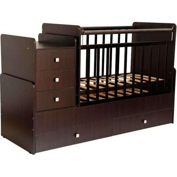 Кроватка-трансформер Фея 1100 (Венге)