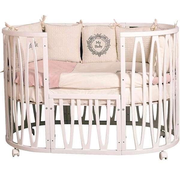 Кроватка детская Incanto Estel Acqua с маятником поперечного качания (Белый)