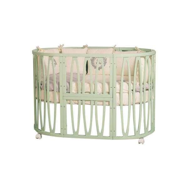 Кроватка детская Incanto Estel Acqua цвет фисташковый, с маятником