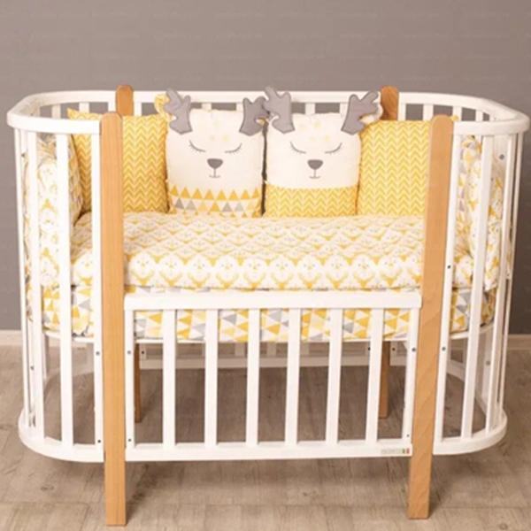 Кроватка-трансформер детская Incanto 9 в 1 Nuvola цвет белый стойкий бук 01-05574