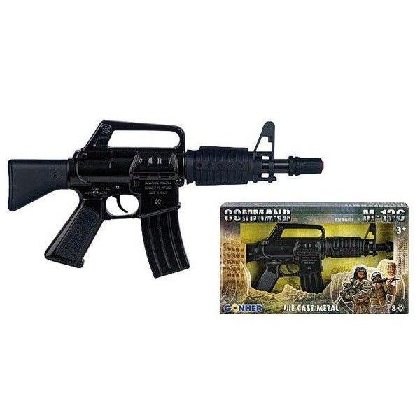 Игрушечное оружие Gonher Command. Мини автомат M-136 Black