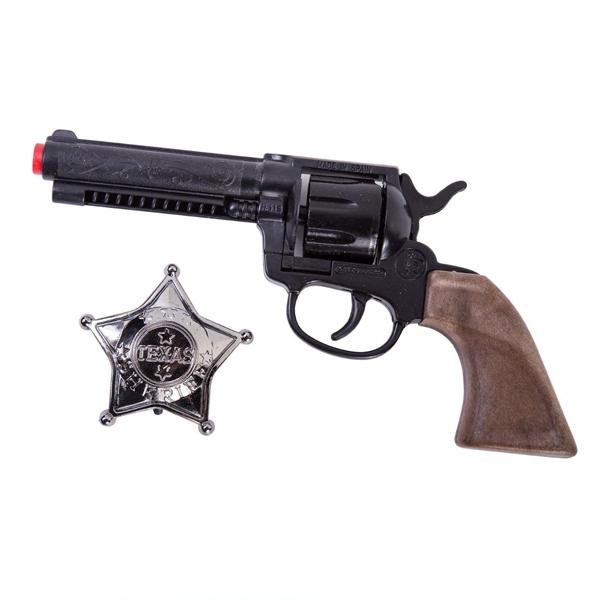 """Игрушечное оружие Gonher Cowboy. Револьвер """"Wild West"""" со звездой шерифа"""