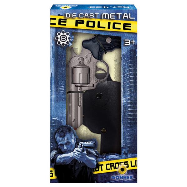 Игрушечное оружие Gonher Полицейский пистолет с кобурой