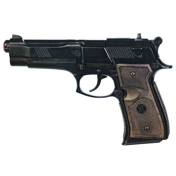 Игрушечное оружие Gonher Полицейский пистолет, Black Metal
