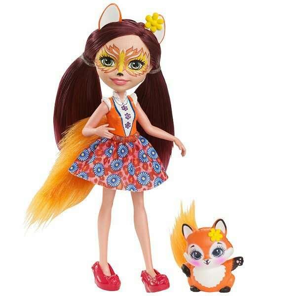 Кукла Mattel Enchantimals Лисичка Фелисити с питомцем (DVH89)