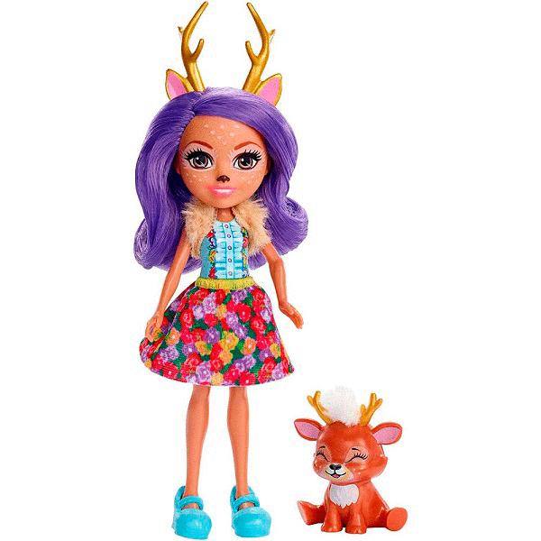 Кукла с питомцем Данесса Оления Enchantimals Mattel FXM75