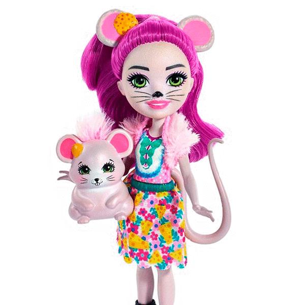 Кукла с питомцем Мышка Майла Enchantimals Mattel FXM76