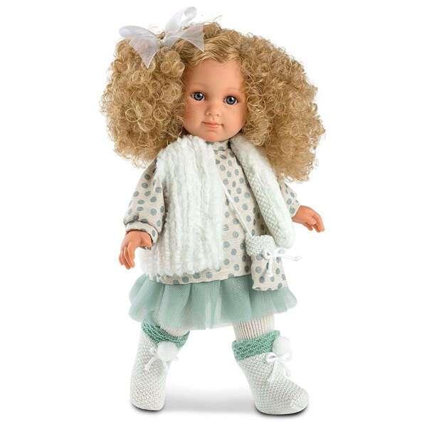 Кукла Llorens Елена 35см, блондинка в бирюзовой юбке