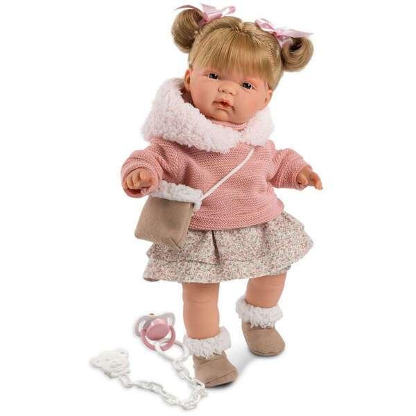 Кукла Llorens Жоэль 38см, шатенка в розовой курточке