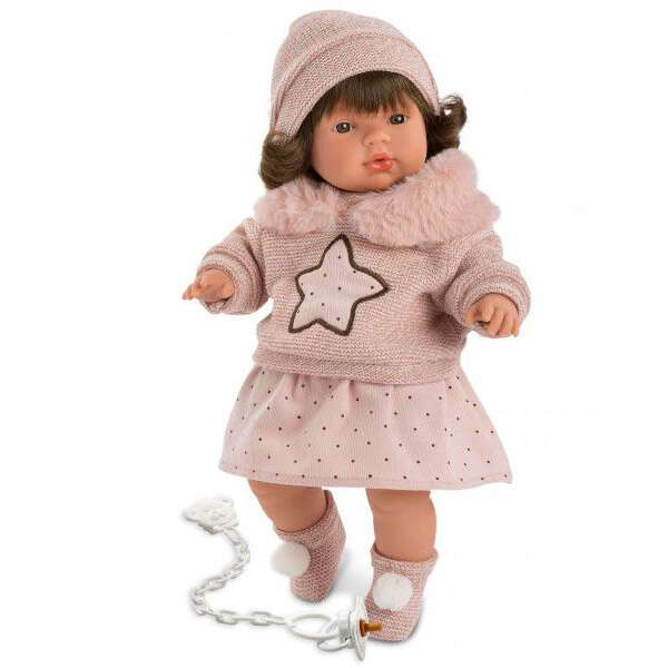 Кукла Llorens Лола 38см, в розовом костюме