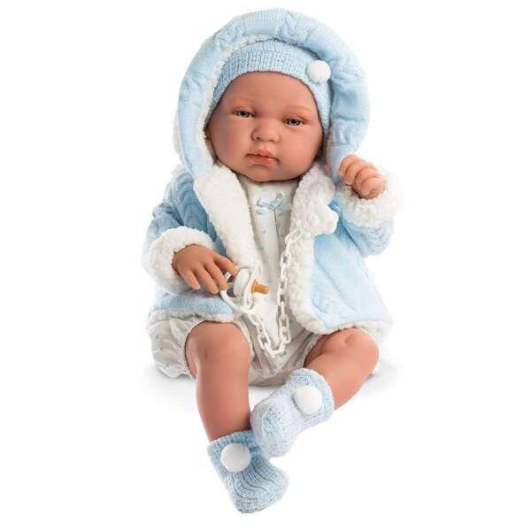 Кукла Llorens малыш Тино 43см, в голубой курточке