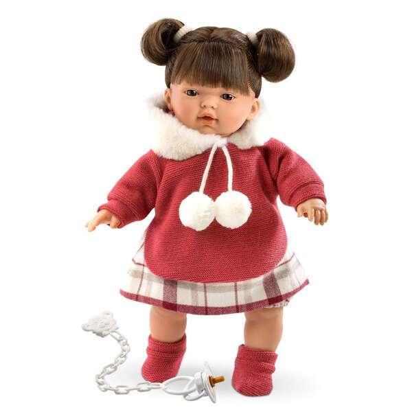 Кукла Llorens малышка Tатьяна 33см, брюнетка в красной курточке
