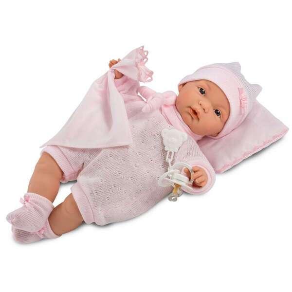 Кукла Llorens малышка Жоэль 35 см в роз.пижамке с одеялом