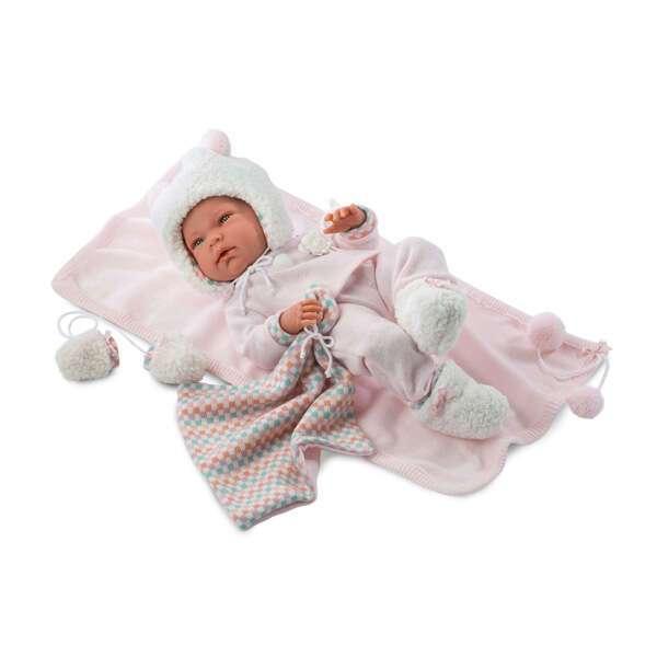 Кукла Llorens малышка Ника 40 см в теплой шапочке и с варежками
