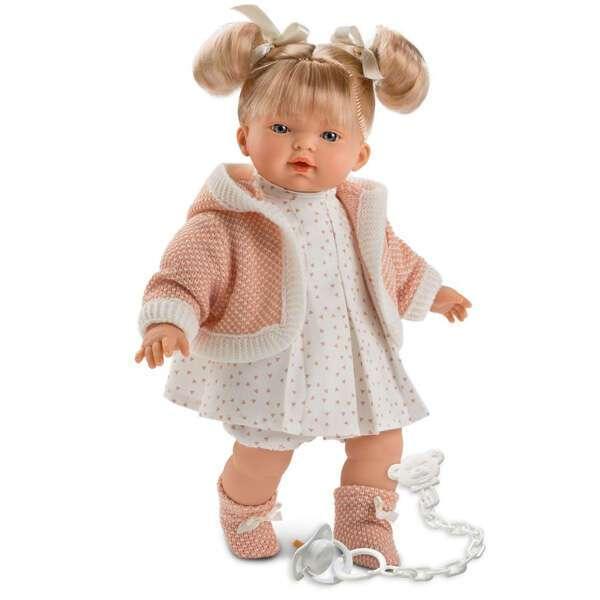 Кукла Llorens малышка Роберта 33 см, блондинка в розовой курточке