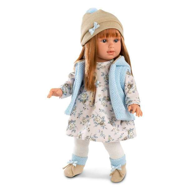 Кукла Llorens Мартина 40см, шатенка в голубом жилете