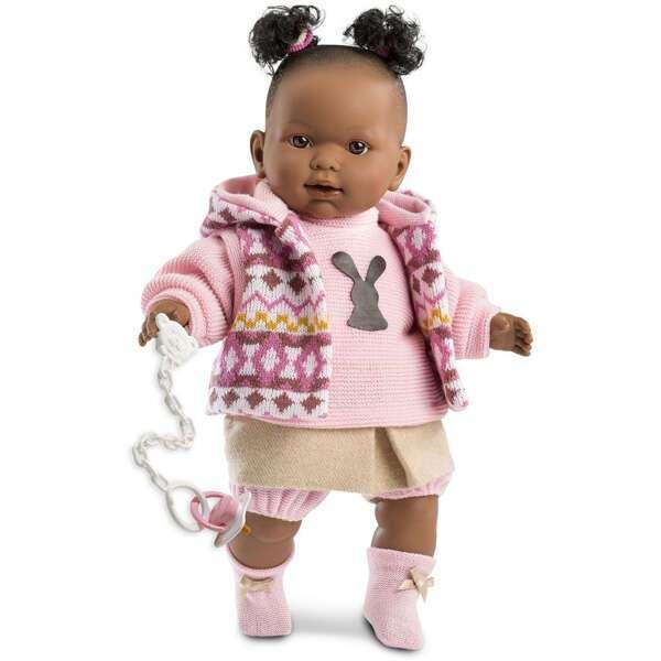 Кукла Llorens Николь 42см, афро в цветной курточке