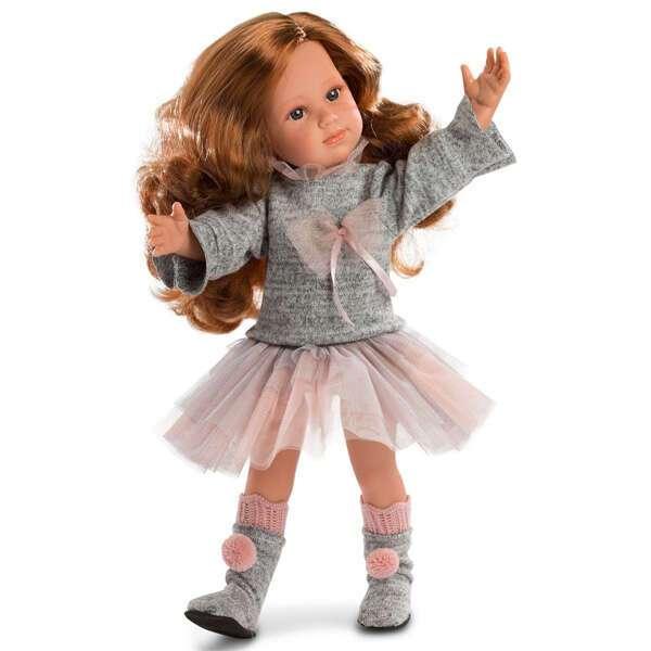 Кукла Llorens София 42см, шатенка в розовой юбке