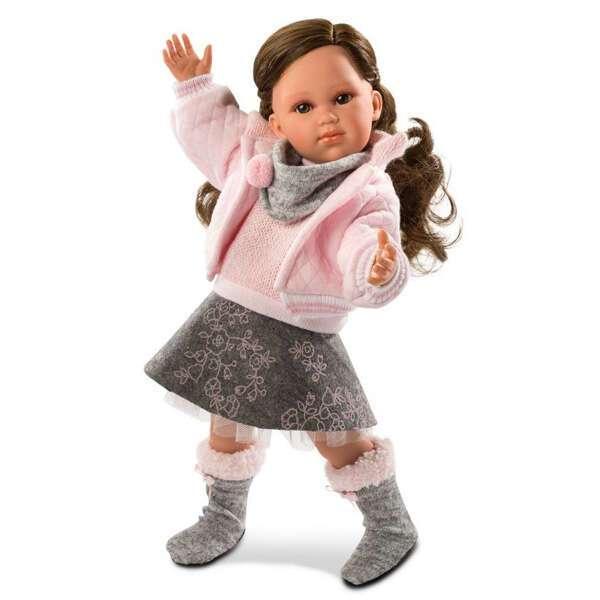 Кукла Llorens Хелена 42см, брюнетка в розовой курточке