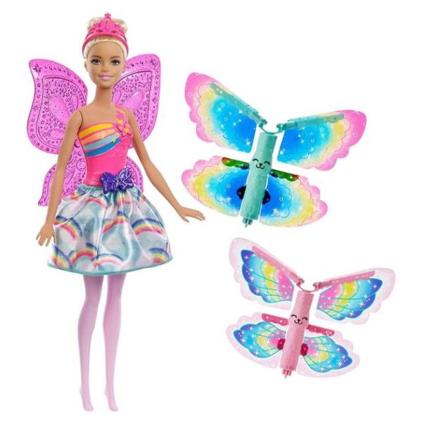 Кукла Barbie Фея со сменными крыльями FRB08)