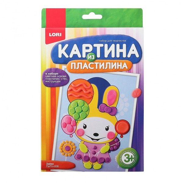 "Картина из пластилина ""Зайка"" Пз/Пл-006"