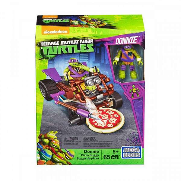 Конструктор Mega Bloks Игрушка Черепашка-ниндзя на Гоночном пицца-мобиле Донни (DMX37)