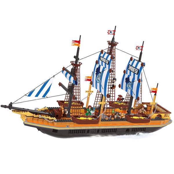 Игровой конструктор Ausini Toys 27806 Пираты