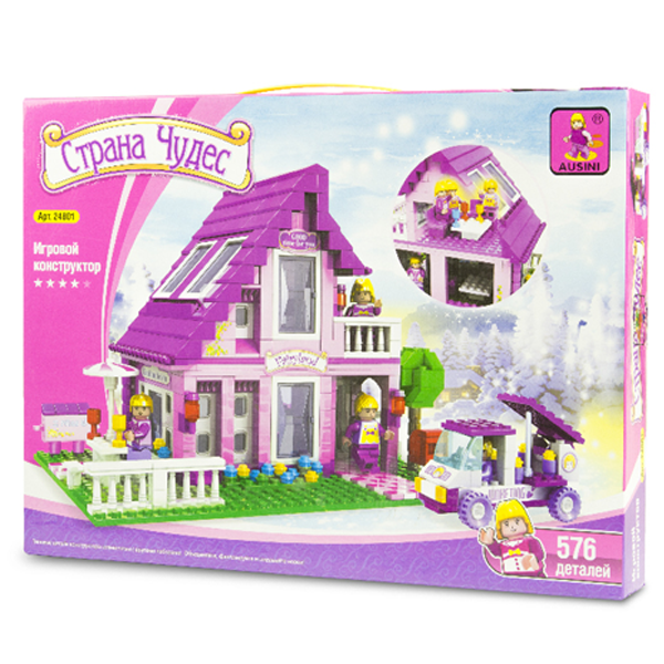 Игровой конструктор Ausini Toys 24801 Розовый домик