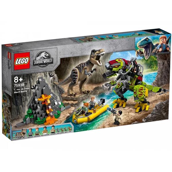 Конструктор LEGO Бой тираннозавра и робота-динозавра Jurassic World 75938