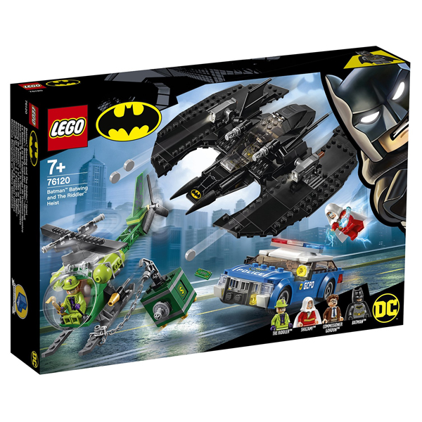Конструктор LEGO Бэткрыло Бэтмена и ограбление Загадочника Super Heroes 76120