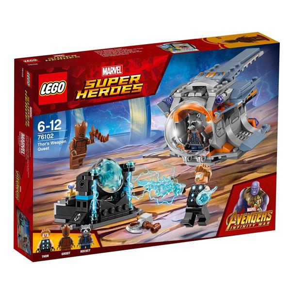 Конструктор LEGO В поисках оружия Тора Super Heroes 76102