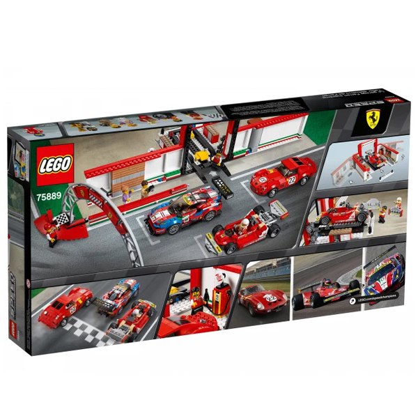 Конструктор LEGO Гараж Ferrari Speed Champions 75889
