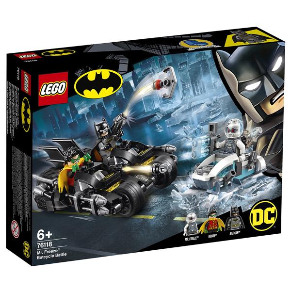 Конструктор LEGO Гонка на мотоциклах с Мистером Фризом Super Heroes 76118