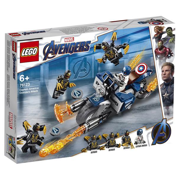 Конструктор Lego Капитан Америка: Атака Аутрайдеров Super Heroes 76123