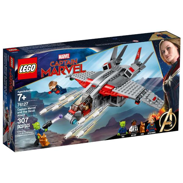 Конструктор Lego Капитан Марвел и  атака скруллов Super Heroes 76127
