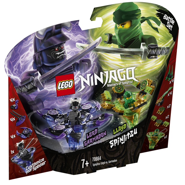 Конструктор Lego Ллойд мастер Кружитцу против Гармадона Ninjago 70664