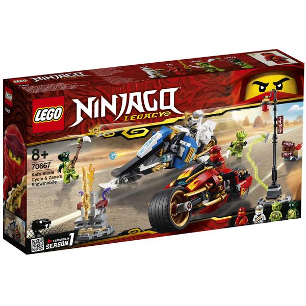 Конструктор Lego Мотоцикл-клинок Кая и снегоход Зейна Ninjago 70667