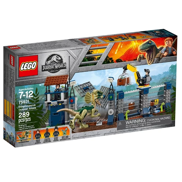 Конструктор Lego Нападение дилофозавра на сторожевой пост Jurassic World 75931