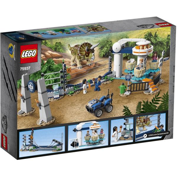 Конструктор Lego Нападение трицератопса Jurassic World 75937