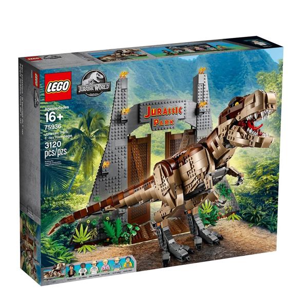 Конструктор Lego Парк Юрского периода: ярость Ти-Рекса Jurassic World 75936