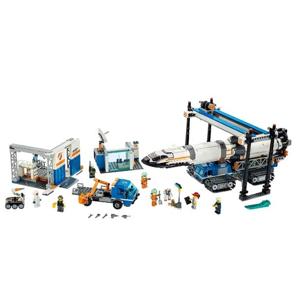 Конструктор Lego Площадка для сборки и транспорт для перевозки ракеты City 60229