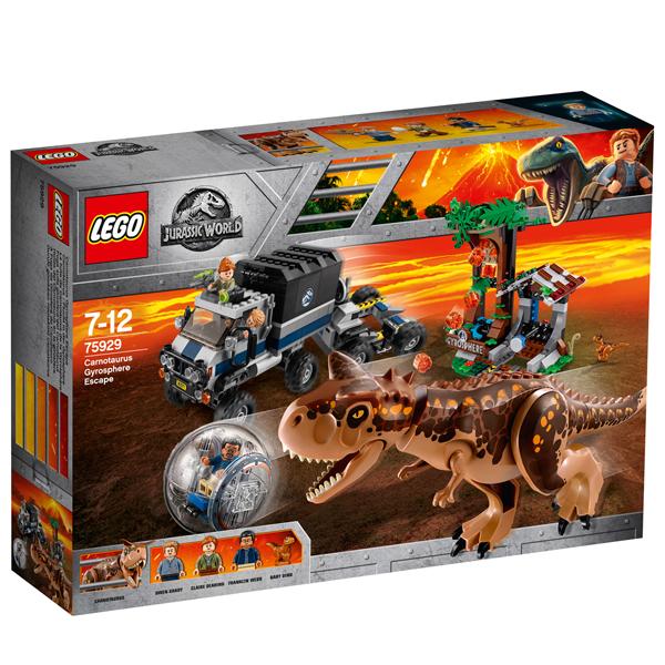 Конструктор Lego Побег в гиросфере от карнотавра Jurassic World 75929