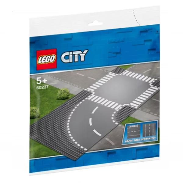 Конструктор Lego Поворот и перекрёсток City 60237