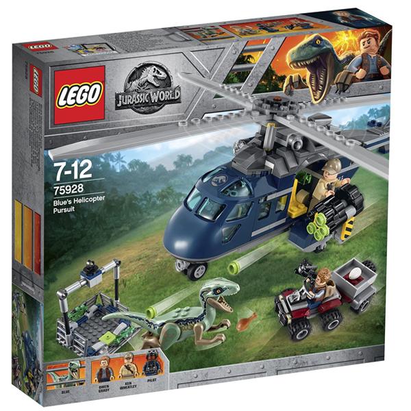 Конструктор Lego Погоня за Блю на вертолёте Jurassic World 75928