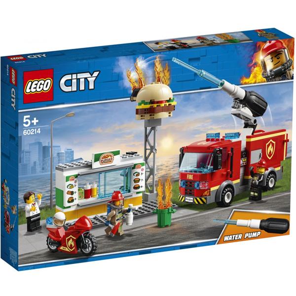 Конструктор Lego Пожар в бургер-кафе City 60214